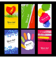 Art cards vector