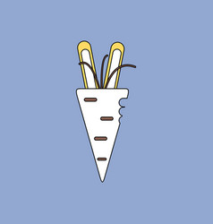 Flat icon design collection turnip plant vector
