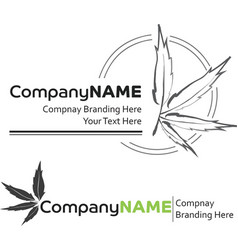 2 cannabis logos vector