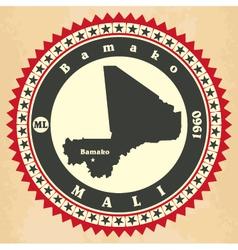 Vintage label-sticker cards of mali vector