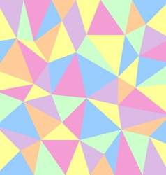 Triangular pastel background vector