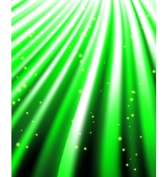 Stars are falling on the background of green rays vector