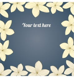 Hand-drawing flower border vector