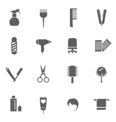 Set of hairdresser icons vector image