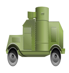 Armored car 380 vector