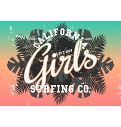 California girls vector