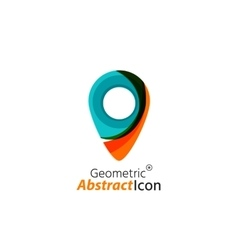 Abstract geometric business corporate emblem - map vector