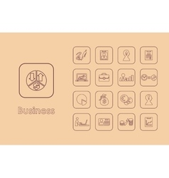 Set of business simple icons vector