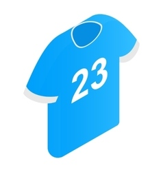 The sports t-shirt with the number 23 icon vector