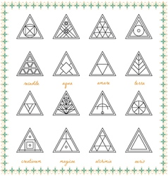 Set of geometric hipster shapes54sz vector