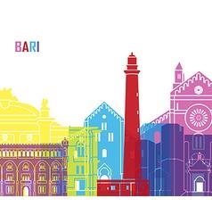 Bari skyline pop vector image