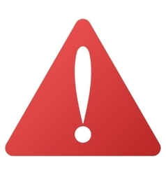 Warning error gradient icon vector
