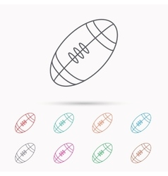 American football icon Sport ball sign vector image