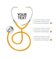 Orange stethoscope vector
