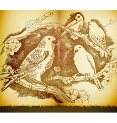 bird sketch vector image vector image