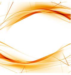 Bright orange high-tech swoosh wave background vector