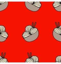 Cartoon seamless pattern with food vector image vector image