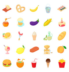 Cocktail icons set cartoon style vector