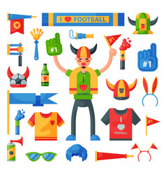 colored football soccer fan attribute rooter buff vector image