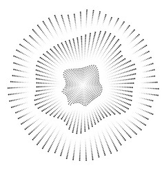 digital sound equalizer with black dots on white vector image
