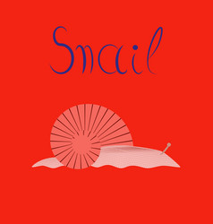 flat on background snail vector image vector image