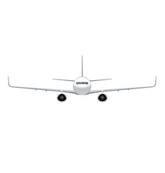 flying airplane jet aircraft airliner vector image vector image