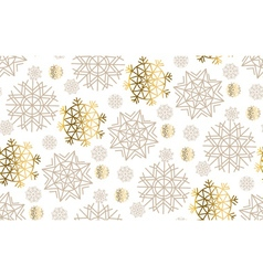 gold snowflakes luxury pastel color seamless vector image vector image