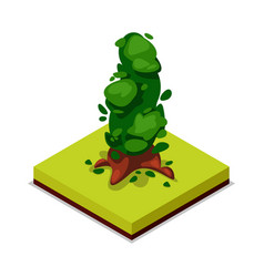 green decorative tree isometric 3d icon vector image vector image