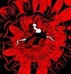 Image of dancer in red-black vector