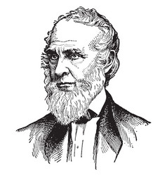 John greenleaf whittier vintage vector