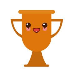 Kawaii trophy school award celebration object vector