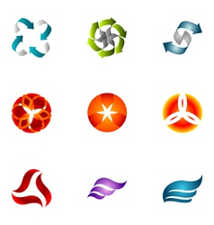 logo design elements set 63 vector image vector image