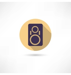 music column icon vector image vector image