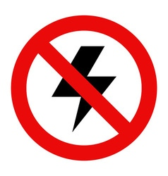 No lightning icon vector