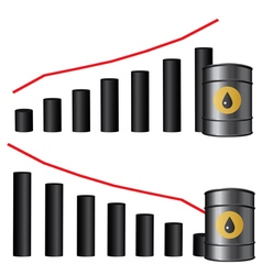 oil chart oval vector image vector image