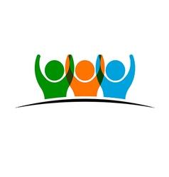 People group winners logo vector