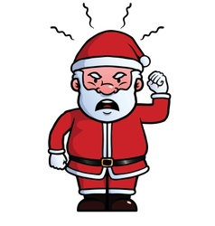 Santa claus being angry vector