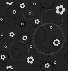 seamless dark pattern with doodles vector image vector image
