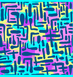 seamless repeating textile ink brush strokes vector image