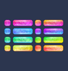 set of buttons for game or web design vector image vector image