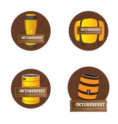 set of oktoberfest labels vector image vector image