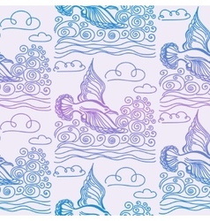 Summer sea seamless pattern vector image