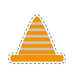 traffic cone caution sign cut line vector image vector image