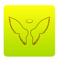 wings sign brown icon at vector image vector image