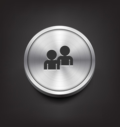 Metal buddy icon vector