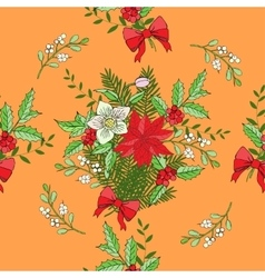 Seamless pattern with christmas decoration vector