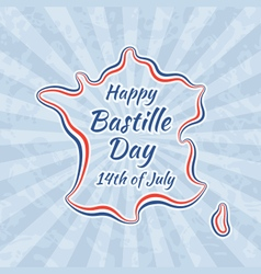Happy bastille day and 14th july vector