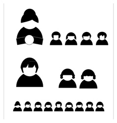 People silhouettes shaps vector