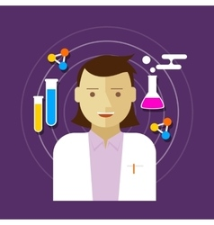 Chemist scientist lab woman vector