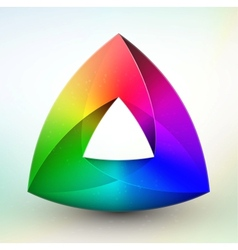 Gem color wheel vector image